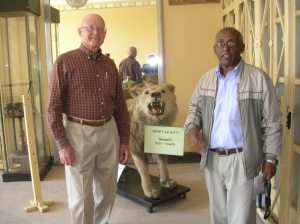 Doug and Tesfagiorgis at the Institute of Ethiopian Studies