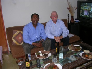 Berhane and Doug at Berhane's home in Addis Ababa