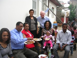 party at Berhane's home