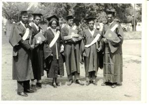 Graduation Day, Haile Selassie I University:  Tesfagiorgis 2nd from right