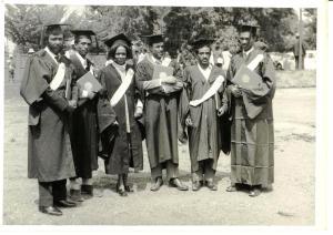 Graduation Day, Haile Selassie I University:  Tesfagiorgis 2nd from right
