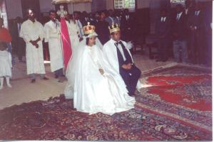 Tesfagiorgis' and Almaz's Church Wedding