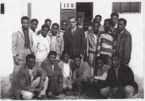 Seniors at Tafari Makonnen School with Mr. Gagnier; Moges standing 3rd from left