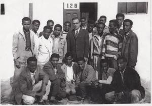 Seniors at Tafari Makonnen School with Mr. Gagnier; Moges standing 3rd from left