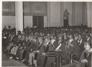 Haile Selassie University graduation ceremony at the Grand Palace, 1972