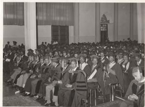 Haile Selassie University graduation ceremony at the Grand Palace, 1972