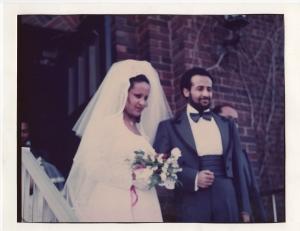 Moges and Abebayehu's wedding in Washington, DC, 1978