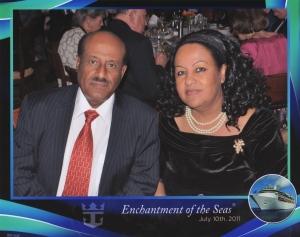 Moges and his wife, Abebayehu Tadesse, 2011