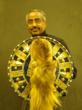 Petros Aklilu With Shield