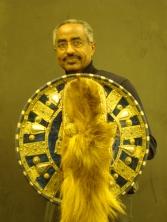 Petros Aklilu With Shield